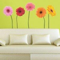 Виниловые цветы на стену - модный тренд в дизайне