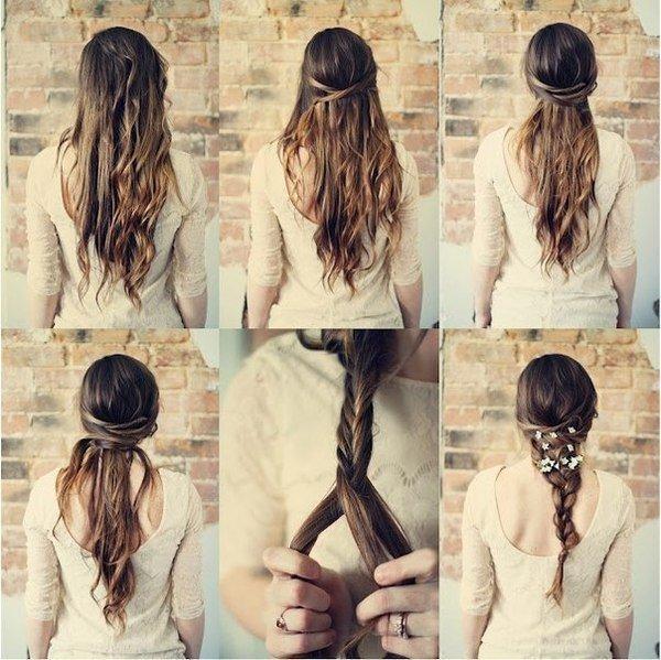 Прически на лето для длинных волос своими руками