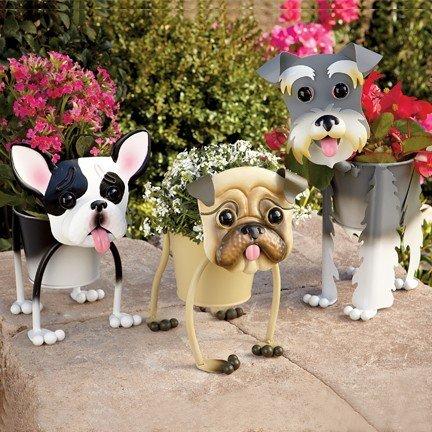 Подставки для цветов в виде собак