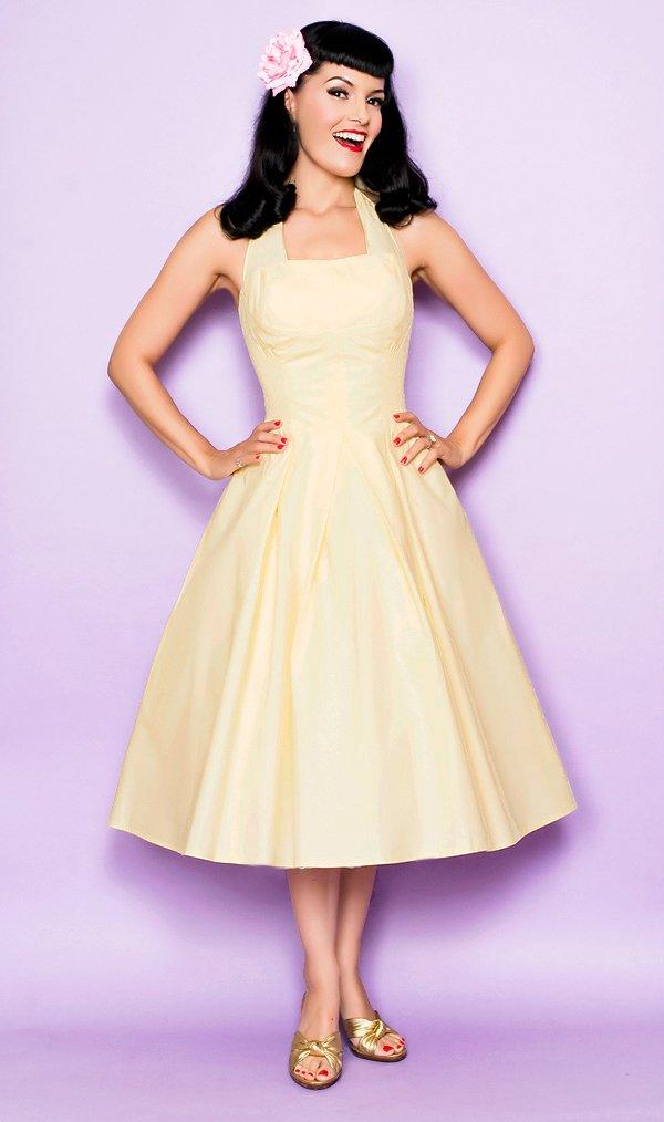 Винтажное платье в стиле 50-х