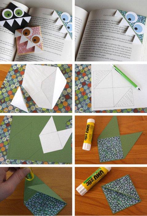 Уголки для книг из бумаги своими руками