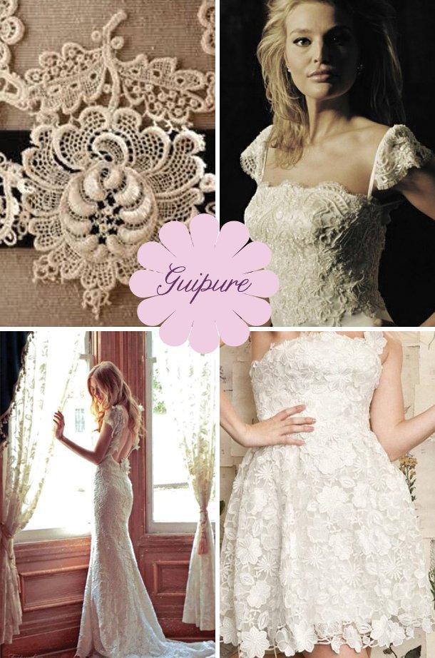 Пышные свадебные платья из гипюра