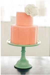 Простой персиковый торт
