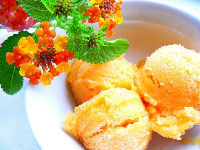 Апельсиновый сорбет в домашних условиях