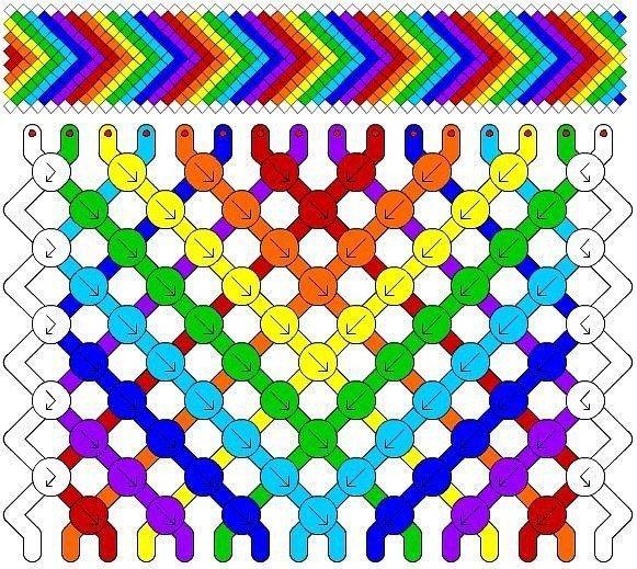 Радужная схема плетения
