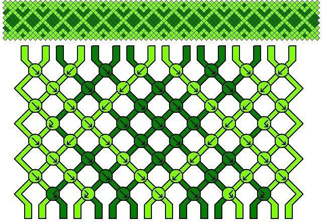 Схема для плетения красивой