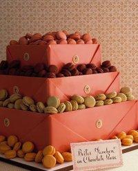 Свадебный торт с печеньем макарон