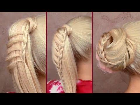 Как сделать причёску хвост с косой