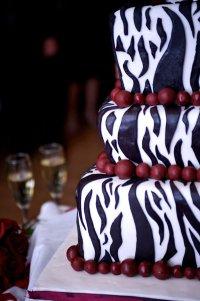 Свадебный торт «Зебра»