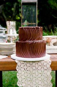 Свадебный торт «Шоколадные волны»