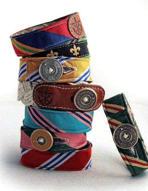 Браслеты из старых галстуков своими руками