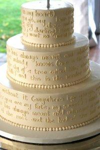 Свадебный торт со стихами : вкусно и романтично