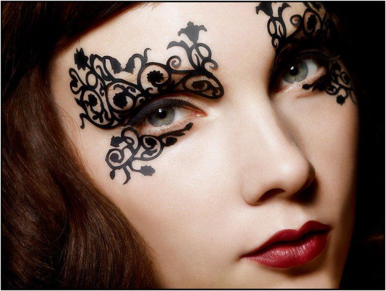 Идеи для макияжа на хэллоуин face lace