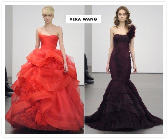 Красные свадебные платья от Vera Wang 2013