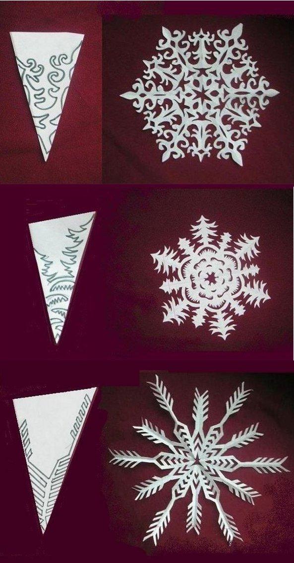 Схемы для вырезания новогодних