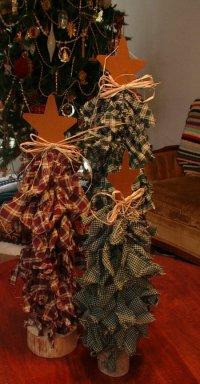 Новогодние елочки из ткани