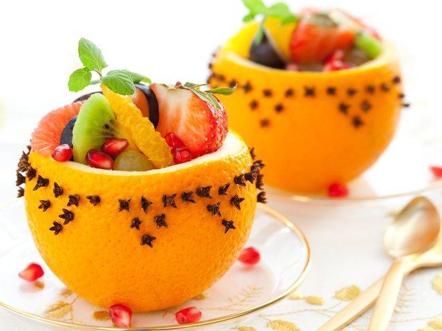 Новогодние фруктовые рецепты