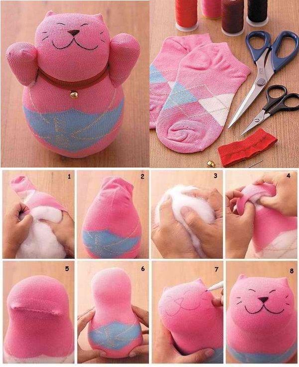 Как сделать игрушку кошку своими руками из бумаги
