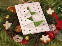 Простая идея для новогодней открытки