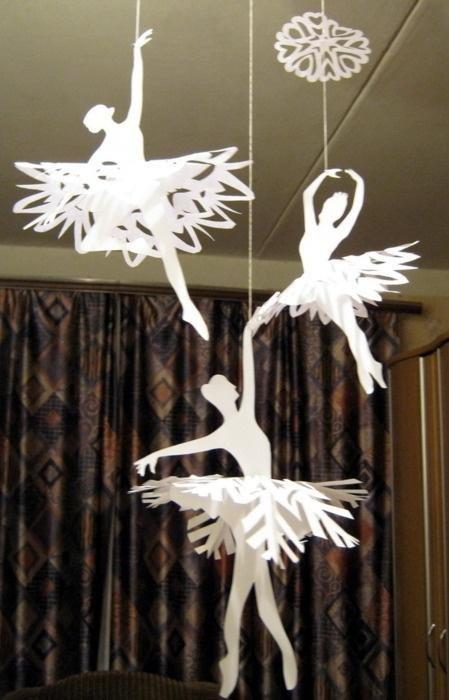 Поделки на новый год балерины