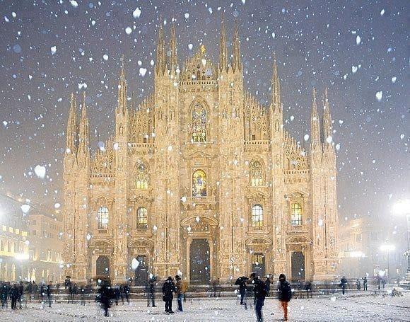 Миланский собор зимой