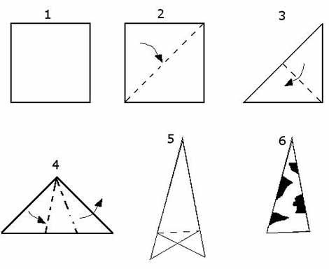 Снежинки из бумаги: варианты