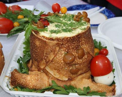 Красивые салаты с фотографиями и рецептами пенек