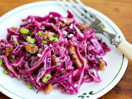 Салат с красной капустой фото рецепт