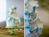 «Акварельный» торт на свадьбу