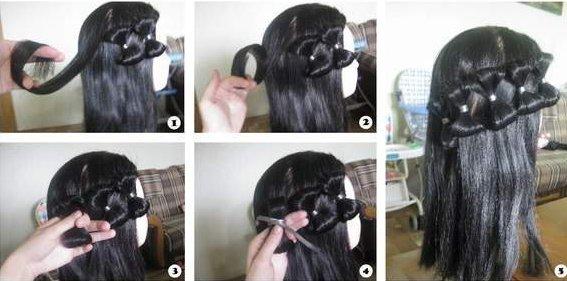Как на косе сделать бантики