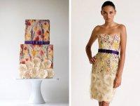 Гармония свадебного платья и торта