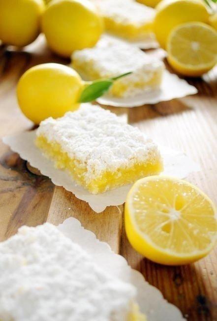 Необычный десерт: лимонные плитки
