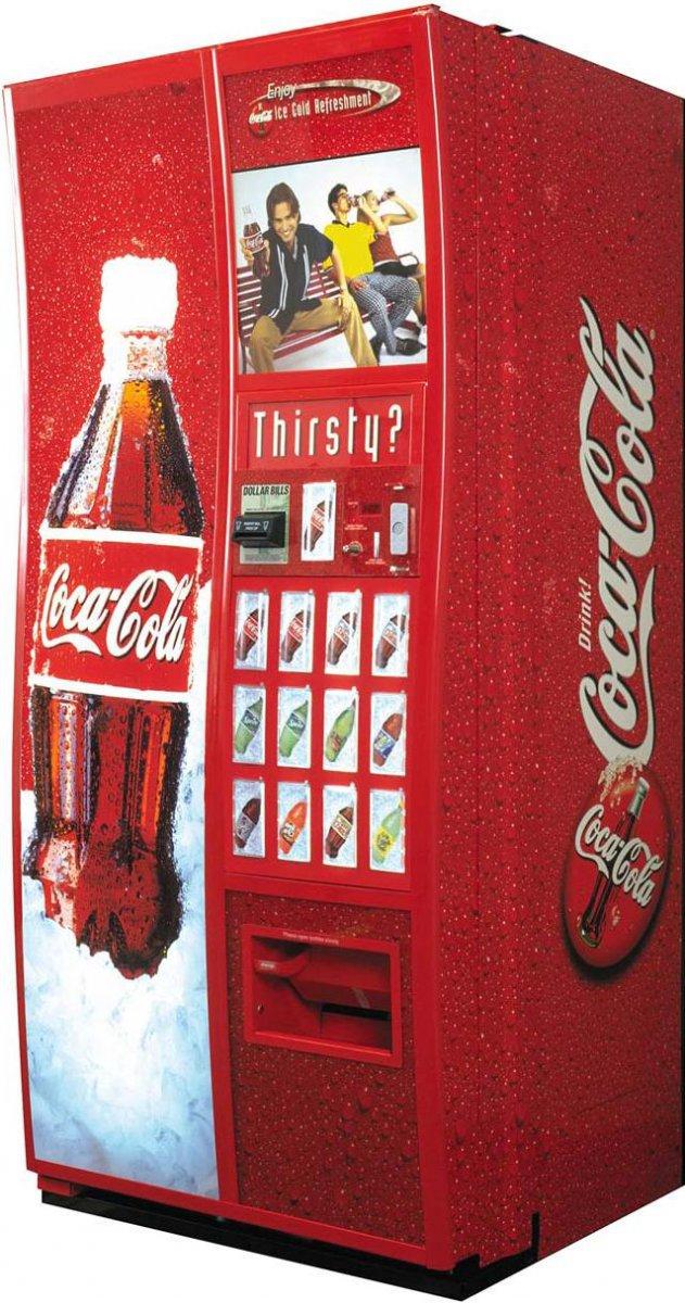 А знаете ли вы, что торговые автоматы по продаже колы с ЖК экранчиком ав
