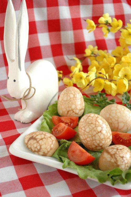 Чайные (мраморные) яйца на Пасху