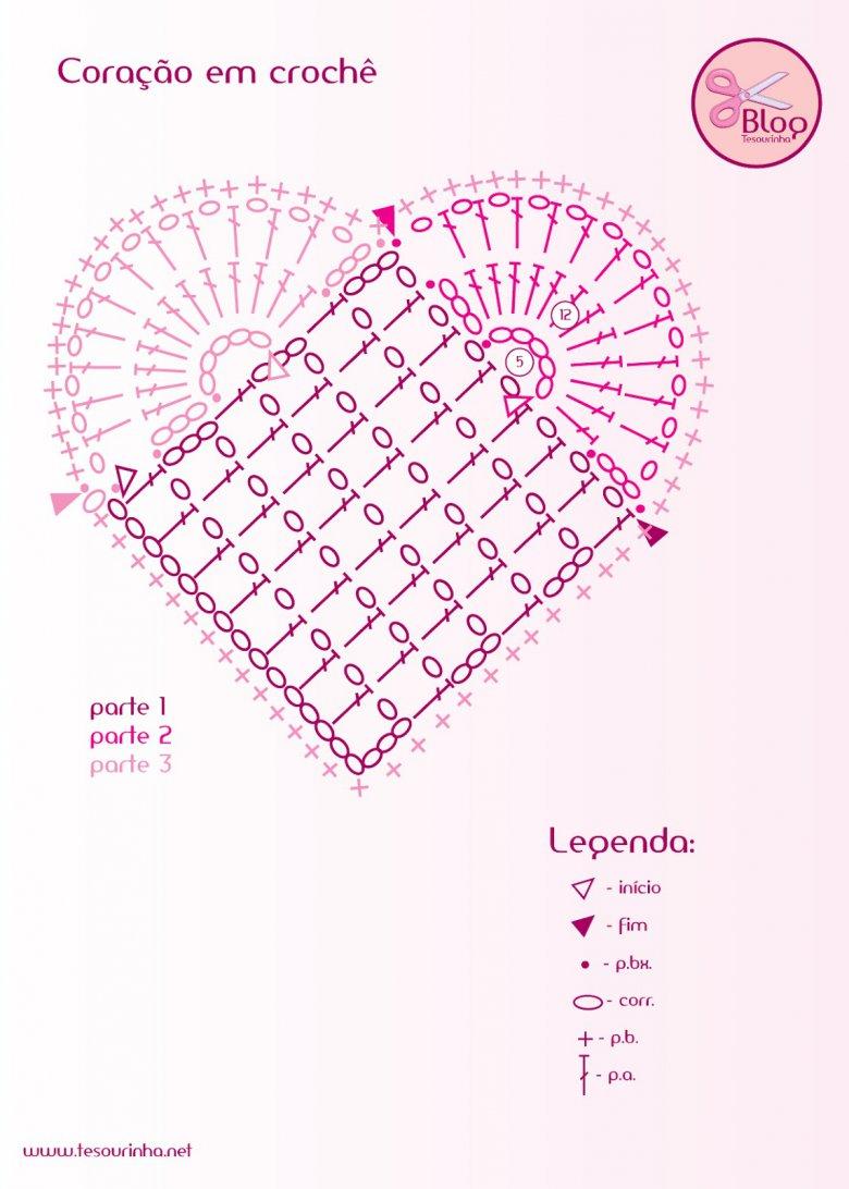 сердечко крючком схема описание