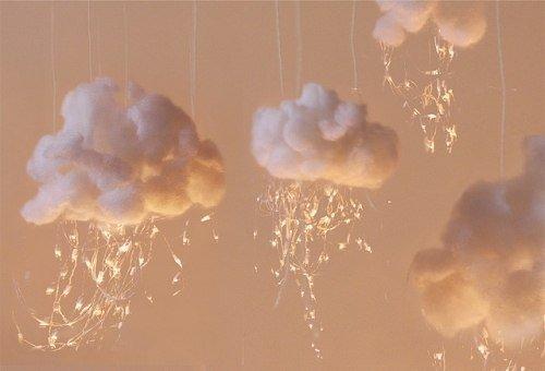 Объемные облака своими руками