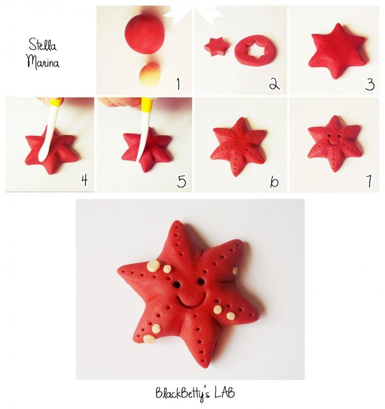 Морская звезда из мастики