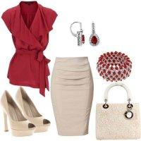 Что надеть на корпоратив: блузка и юбка