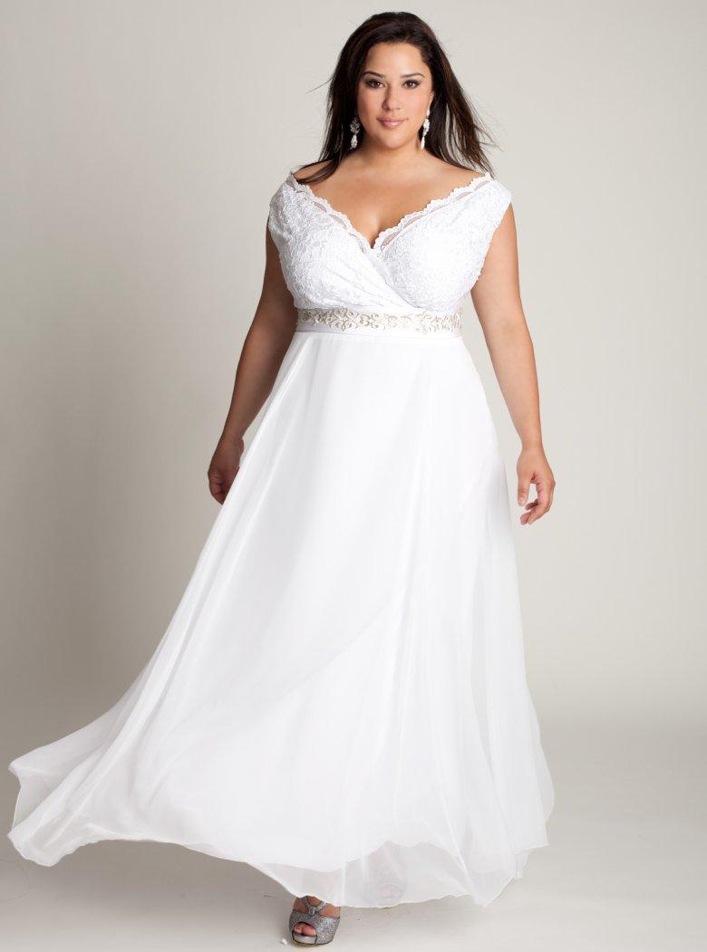 Вечерние платья для полных невест