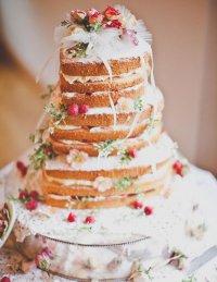 Натуральный свадебный торт