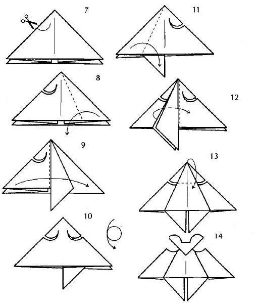 Оригами «Летучая мышь.