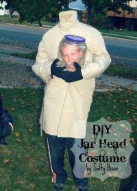Детский костюм на Хэллоуин: голова в банке