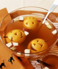 Пунш на Хэллоуин «Веселые апельсины»