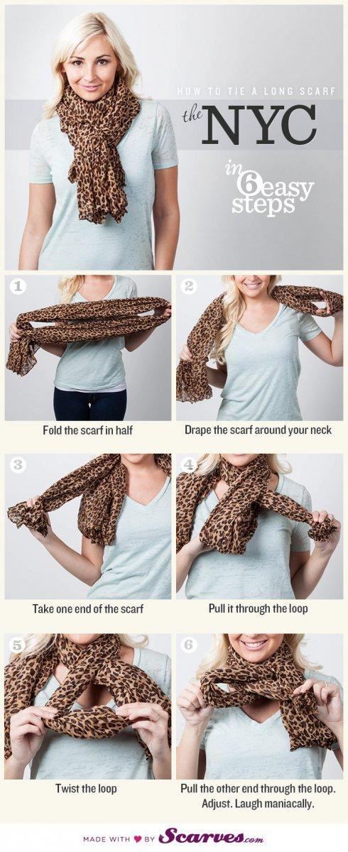 Как завязать шарф: стиль NYC