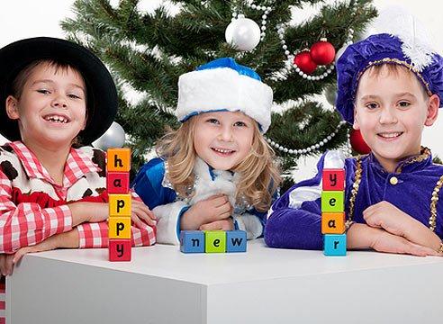 Детская игра на Новый год «Только не смейся»