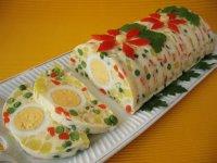 Рецепты салатов новинки: Очень необычный желейный новогодний салат 2014.  Этот оригинальный овощной салат в...