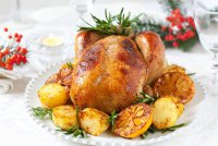 Запеченная курица с чесноком на Новый год