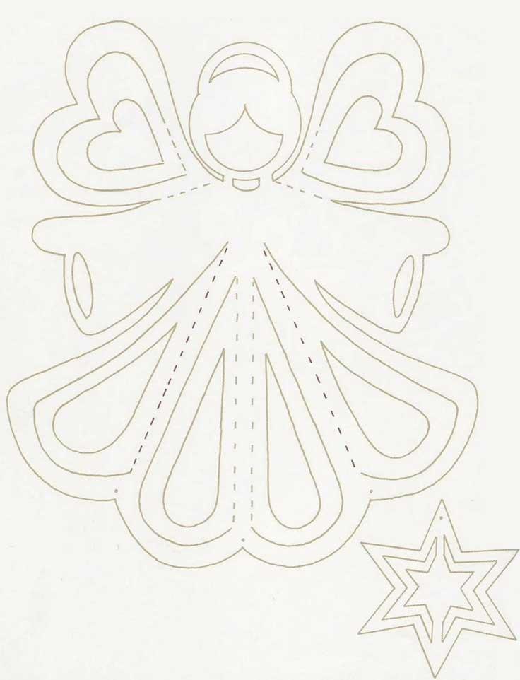 Объёмные украшения из бумаги на новый год своими руками