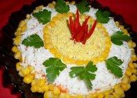 Новогодний салат с морковью и курицей