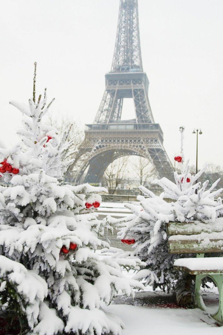 Обои на рабочий стол париж зима